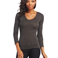 Lightweight Basic Long Sleeve Tee | Wet Seal