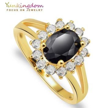 Charms wedding rings for women gold color  women rings