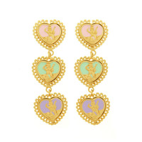 3 Heart Cameo Earrings | Bisou Bijoux Ariela