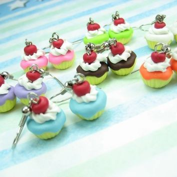 Mini Fun Cupcake Earrings (Choose 3 pairs) - food jewelry