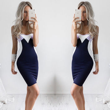 ≫∙∙Sexy Womens Sleeveless Bandage Body-con Evening Party Dress ∙∙≪