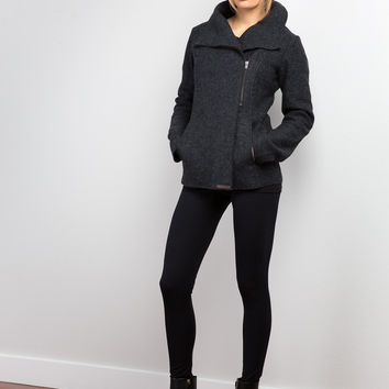 NOOLAN ISA WOOL JACKET DARK GREY