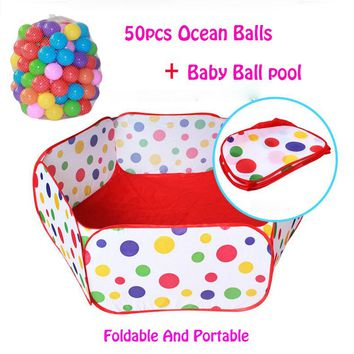 50pcs balls+Outdoor/Indoor Ocean Ball Pool Baby Playpens For Children's Foldable Kids Pit Activity&Gear Toy Fencing 1M 1.2M 1.5M