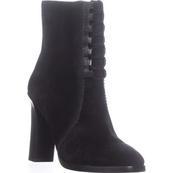 Michael Kors Collection Odile Lace Up Booties, Black, 5.5 US / 35.5 EU