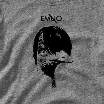 Funny Emo Emu Animal Shirt - Choose Colors and Style - Funny Shirt - Tee Shirt T-Shirt Mens Womens Geek Cool Shirt