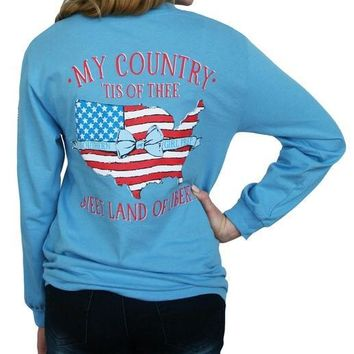 Southern Girl Prep My Country T-shirt