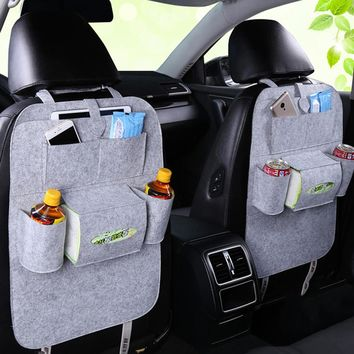 Auto Car Back Seat Boot Organizer Car Felt Covers Back Seat Organizer Insulation Versatile Multi-Pocket Storage Container Bag