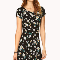 Floating Daisies Skater Dress