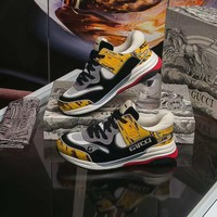 Gucci Men's Ultrapace Sneaker Yellow Tejus Printed Leather - Best Online Sale
