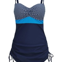 Chicloth Sport Print 2pcs Bandeau Tankini Swimsuit