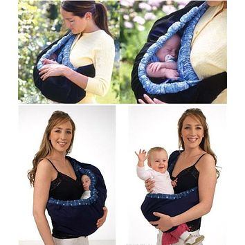 Plaid Free Shipping New Cotton Front Carry One Shoulder Supplies Baby Products Backpack Stretch Wrap Bag Carrier
