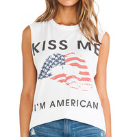 The Laundry Room American Lips Tee in White