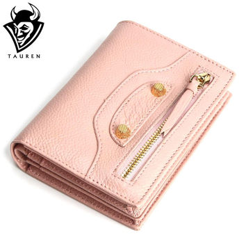 New Women Motorcycle Vintage Genuine Leather Wallet Anchor Style Wallets Fashion Coin Purse