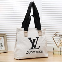 Louis Vuitton LV New Fashion Letter Print Shopping Leisure Shoulder Bag Women White