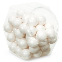 Sweetworks Celebration Candy Gumballs Bag, 8 oz, Shimmer White