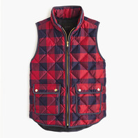 J.Crew Womens Petite Excursion Buffalo Check Vest