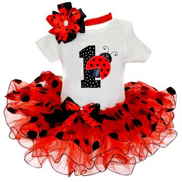 One Year Birthday Party Baby Clothing Set