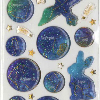 Kawaii Japan Sticker Sheet Assort Droptale Series: Zodiac Sign Constellation