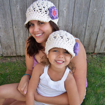 Mother's Day Hat SetNewsboy Hat Spring by SoLaynaInspirations