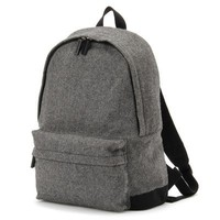 Reclaimed Wool Mix Ruck Sack Gray