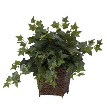 Artificial Plant -Puff Ivy With Coiled Rope Planter Silk Plant