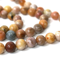 8mm Morocco Agate beads, natural brown round gemstone bead,  Full strand 860S