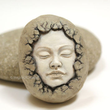 Original sculpture, unique stone art. Creative artwork, OOAK stone art, great for spiritual people and fine art lovers