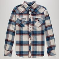 Micros No Comply Mens Flannel Shirt Blue  In Sizes