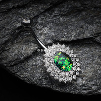 Radiant Opal Sparkle Belly Button Ring