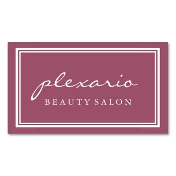 Double Frame MALAGA Modern Beauty Salon Business Card