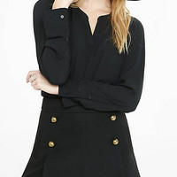 Notch Neck Long Sleeve Romantic Blouse from EXPRESS