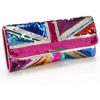 Accessorize - Wow Union Jack Sequin Clutch - Monsoon - Polyvore