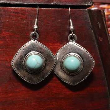 Himalayan turquoise earrings