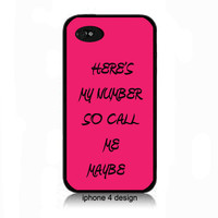 Call Me Maybe iphone 4 cell phone accessory case