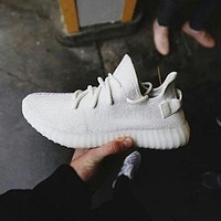 Adidas Yeezy 550 Boost 350 V2 Popular Classic Women Men Sport Running Shoe Sneakers Pure White I