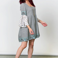 Time Will Bell Sleeve Dress
