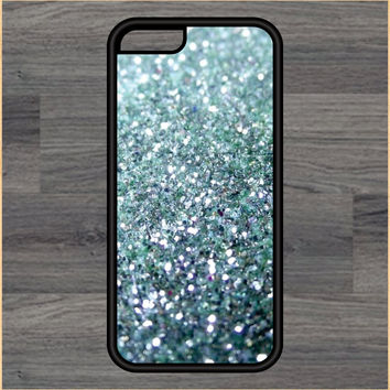 Blue Glitter Design Art iPhone 4 / 4s / 5 / 5s / 5c /6 / 6s /6+ Apple Samsung Galaxy S3 / S4 / S5 / S6