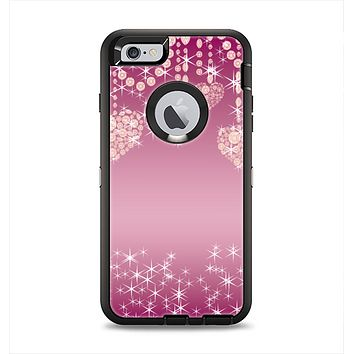 The Pink Sparkly Chandelier Hearts Apple iPhone 6 Plus Otterbox Defender Case Skin Set