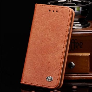 Phone Cases for iPhone 6 S Case Genuine Leather Shell for iPhone 6 6S Cover Flip Phone Bags 6S 6s Case Flip Wallet Cover Shell