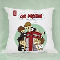 Top Band 1D One Direction Take Me Home Pillow Case Cushion 16 18 20 2 Side Cover
