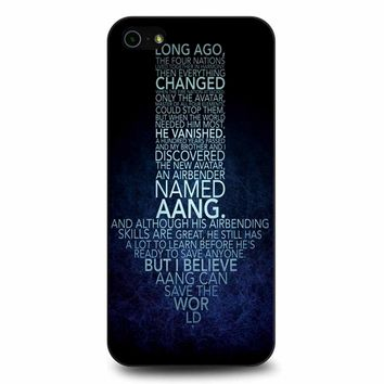Avatar The Last Airbender Monologue iPhone 5/5s/SE Case