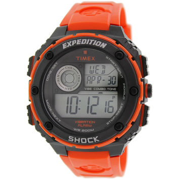 Timex T49984 Men's Expedition Vibe Shock Alarm Digital Dive Chronograph Flame Red Watch
