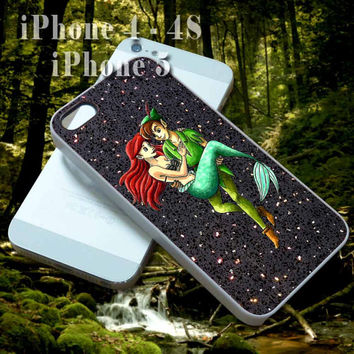 Disney Peter Pan Ariel Mermaid Print - Custom Cell Phone Case - iPhone 4 4s,5,5s,5c - Samsung S3,S4 - iPod 4, 5 - HTC One,One X - BB Q10,Z10
