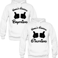 WORLD'S GREATEST BOYFRIEND WORLD'S GREATEST GIRLFRIEND COUPLE LOVE HOODIES