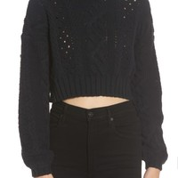 Love Like Summer x Billabong Crop Cable Sweater | Nordstrom