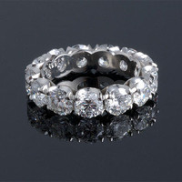 Round Diamond Circlet Ring ~ M.S. Rau Antiques