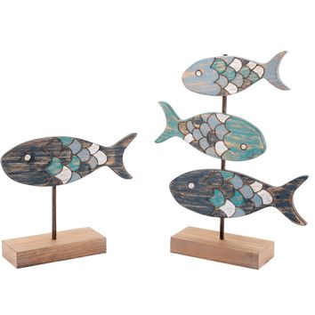 Antique Fish Figurines (Set of 2)