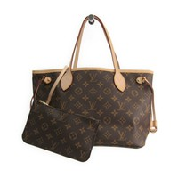 Louis Vuitton Monogram Neverfull PM M41000 Women's Tote Bag Beige BF312509