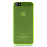 Green Translucent Solid Color Case For iPhone 5 & 5S