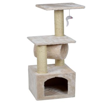 "Deluxe Cat Tree 36"" Condo Furniture Scratching Post Play Toy House"